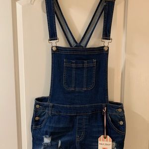 New with tags jean overall shorts